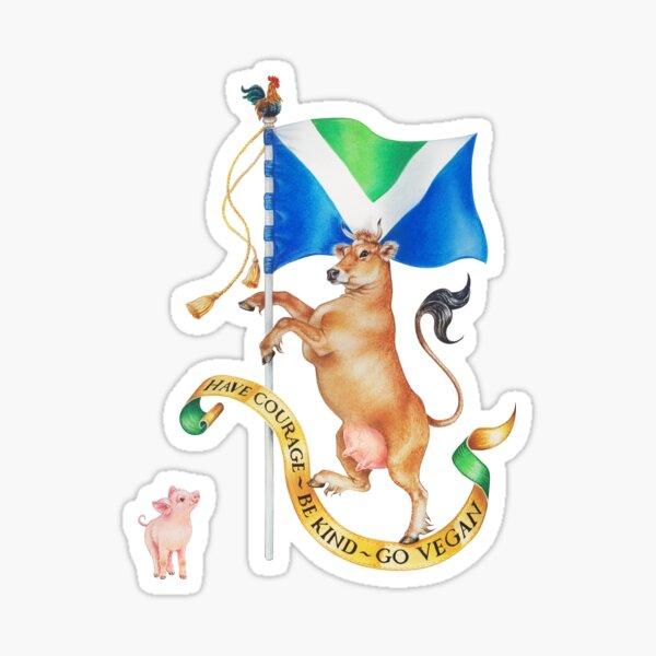 Vegan Coat of Arms by Maria Tiqwah Sticker