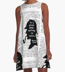 Sherlock Holmes Quote Art A-Line Dress