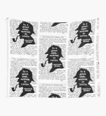 Sherlock Holmes Quote Art Wall Tapestry