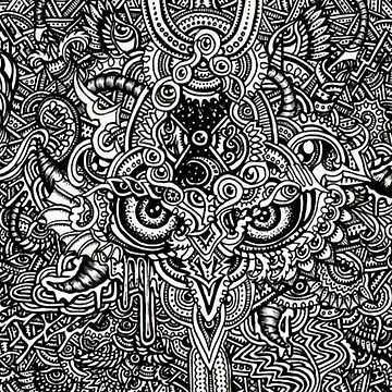 Owl surrounded by design by Rajaljain