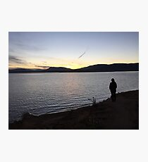 person by the lake Photographic Print