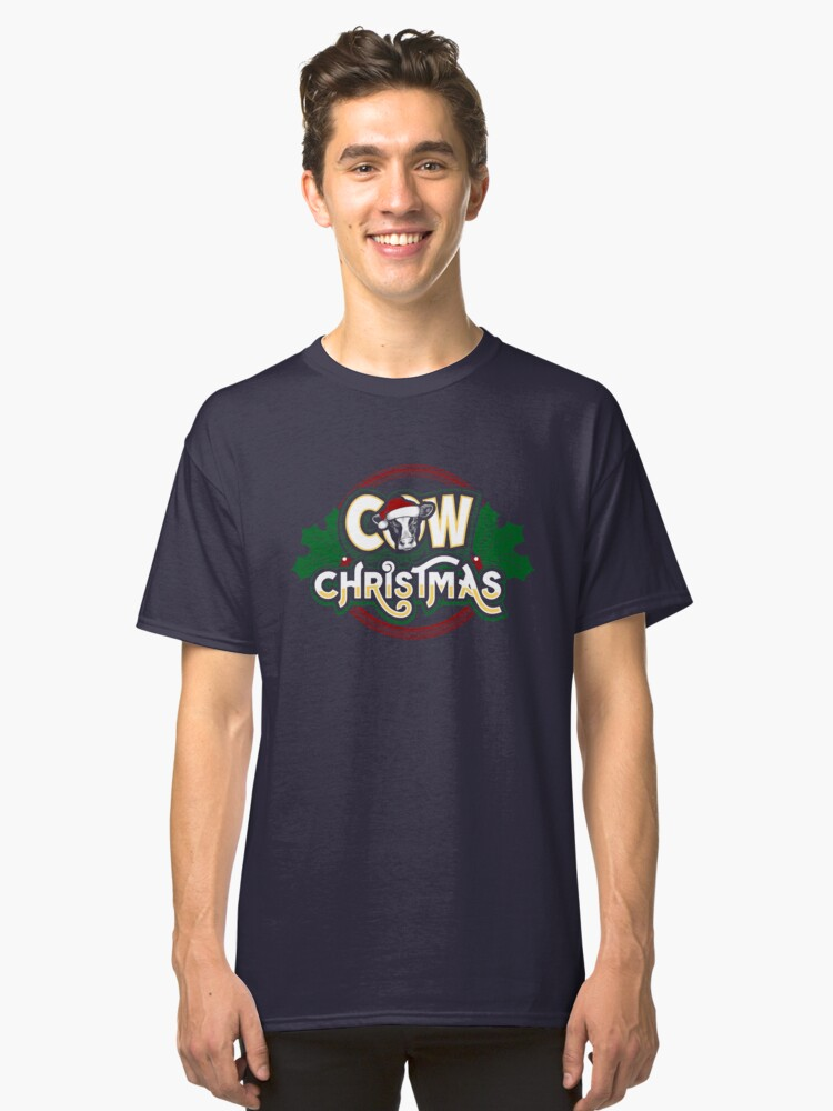 Cow Christmas Classic T-Shirt Front