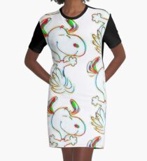 Colorful Snoopy Graphic T-Shirt Dress
