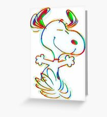 Colorful Snoopy Greeting Card