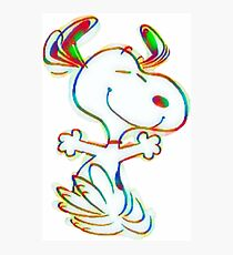 Colorful Snoopy Photographic Print