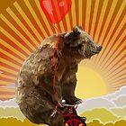 Big Bear with bicycle by Dadang Lugu Mara Perdana