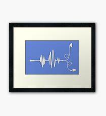 EARPHONES SOUNDWAVE CONCEPT Framed Print