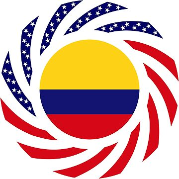 Colombian American Multinational Patriot Flag Series by carbonfibreme