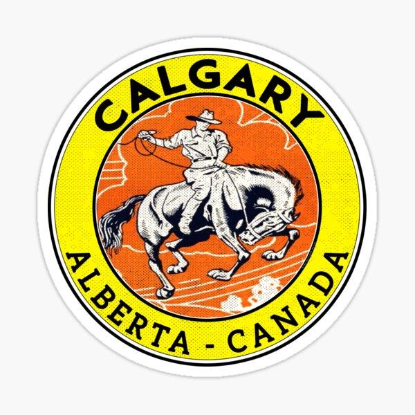 Calgary Alberta Canada Cowboy Horse Stampede Rodeo Sticker