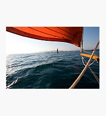 Sailing to anchor Photographic Print