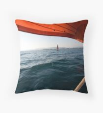 Sailing to anchor Throw Pillow
