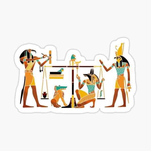 WEIGHING THE SOUL. Egyptians. Egyptian. Sticker