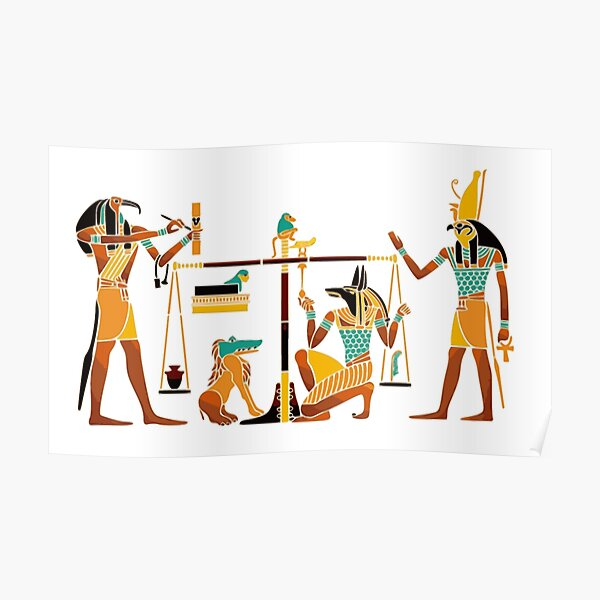 WEIGHING THE SOUL. Egyptians. Egyptian. Poster