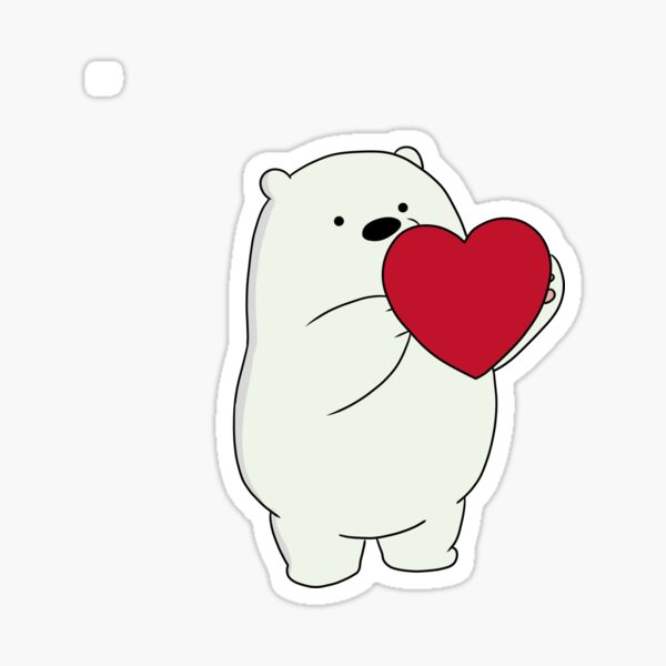 We Bare Bears Ice Bear Pegatina