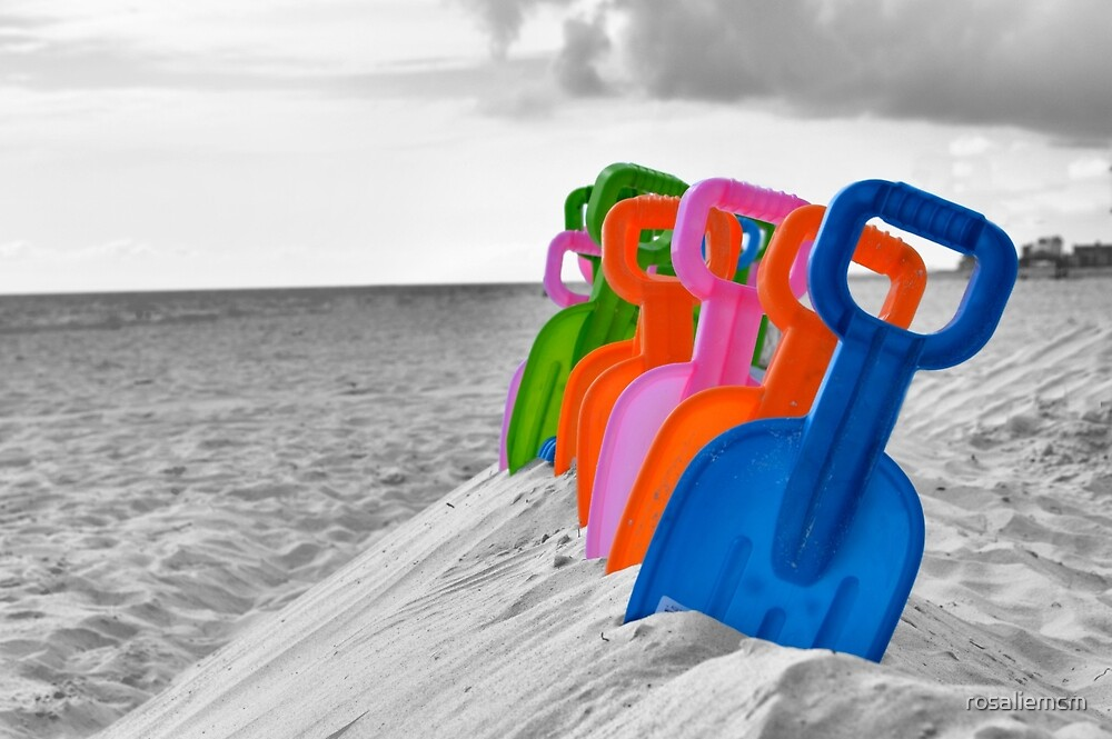 Row of Shovels by rosaliemcm