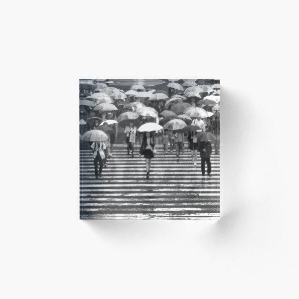 Rainy Day, Shibuya Acrylic Block