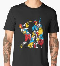 Colorful Abstract Musicians Modern Style Men's Premium T-Shirt