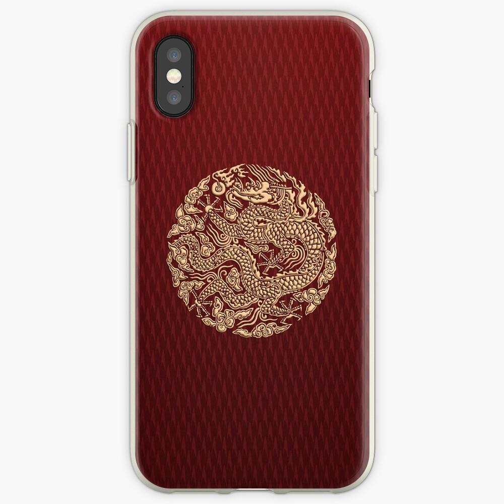 Golddrachen shenlong iPhone-Hülle & Cover