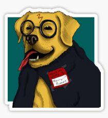 Wizard Dog Sticker