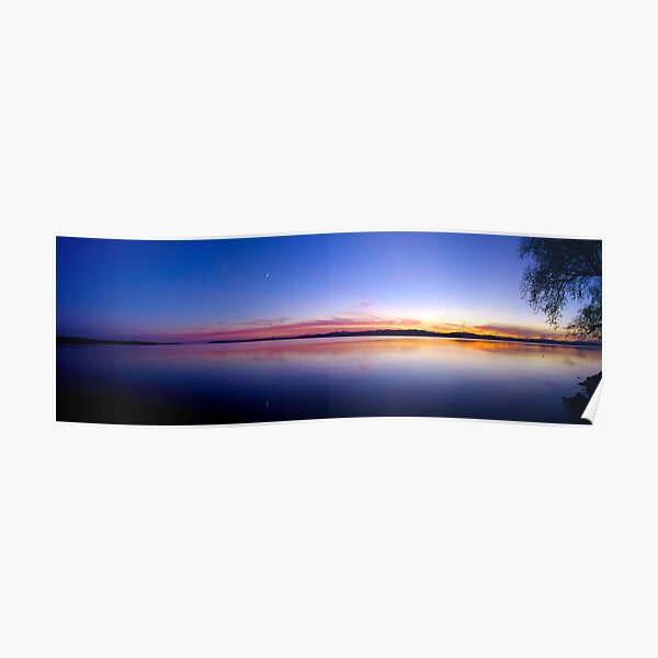 Sunset, Lake Champlain - Panorama Poster
