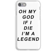 Legend [Black] iPhone Case/Skin