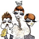 Pixie Chicks White by Yvette Crocker