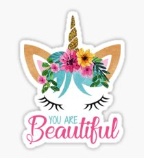 Beautiful - Unicorn - Modern Design  Sticker