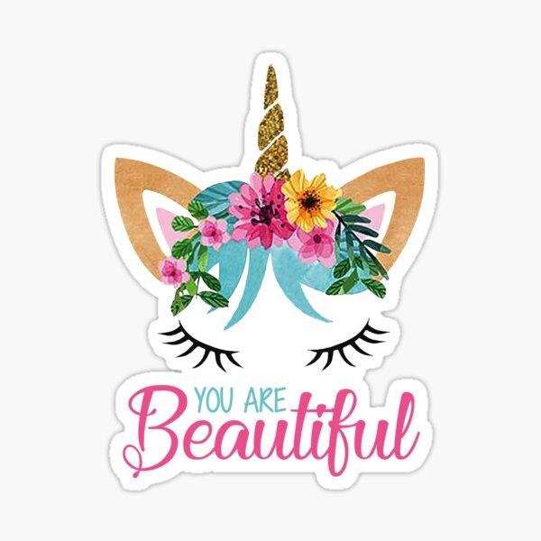 Beautiful - Unicorn - Modern Design  Sticker
