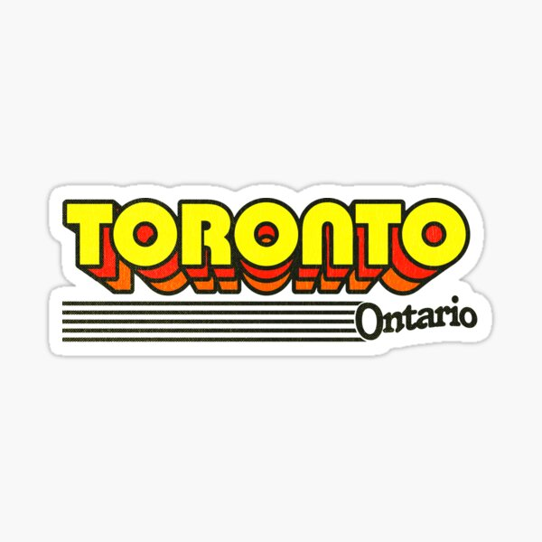 celui-ci est pour toi. Rester sur une astuce strictement rétro avec une typographie vintage aux couleurs délavées. Ontario Sticker
