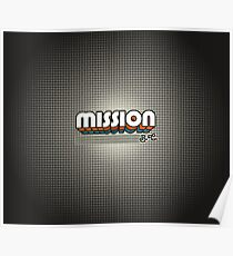 Mission, BC   Retro Stripes Poster