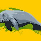 Dugong Illustration  by Maxwbender