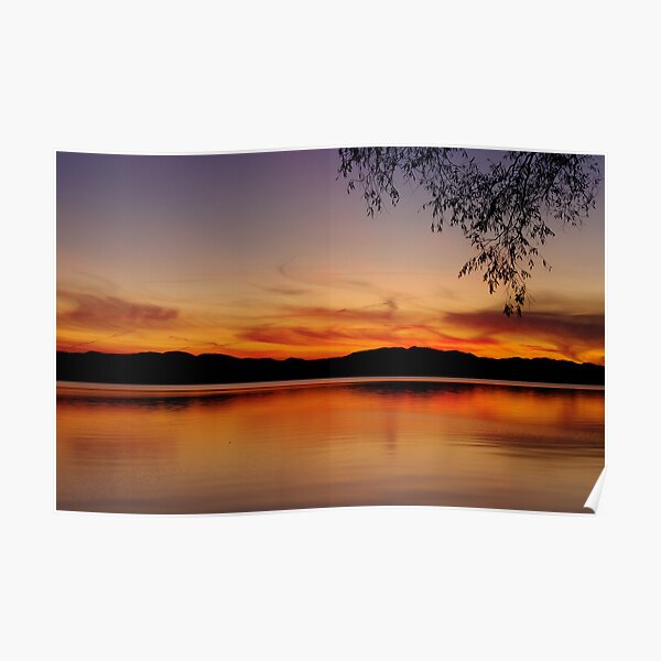 Sunset, Lake Champlain Poster