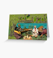 Wind in the Willows - River bank picnic Greeting Card