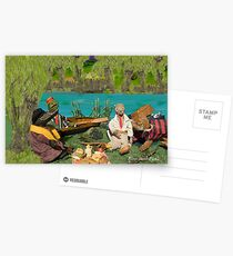 Wind in the Willows - River bank picnic Postcards