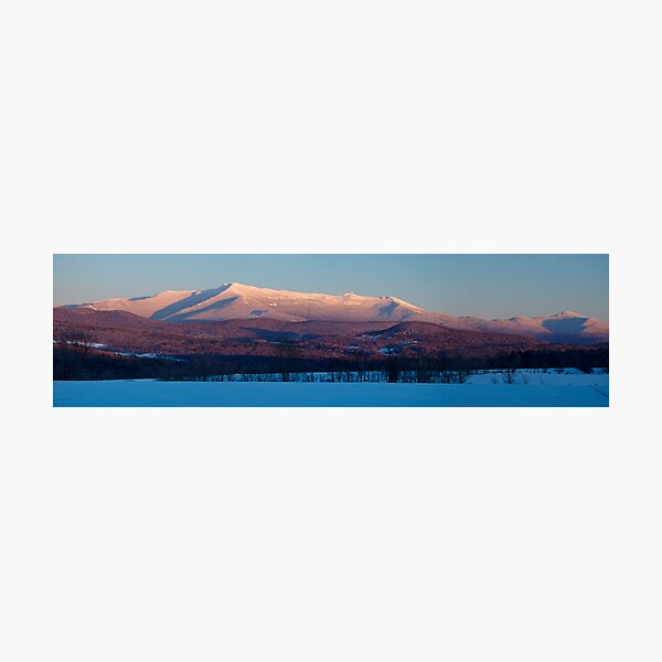 Sunset, Mount Mansfield, Minus 10 Degrees - Panorama Photographic Print