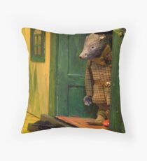 Wind in the Willows - Listening to the carol singers Throw Pillow