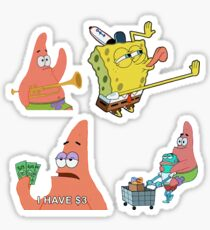Spongebob Multiple Stickers Sticker