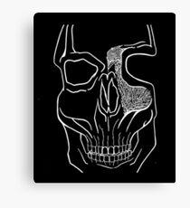 """Brains Brewing"" Skull Design by Warwick.Art Canvas Print"