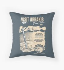 Visit Arrakis Throw Pillow