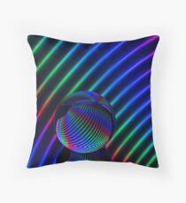 Colours in the glass round Throw Pillow