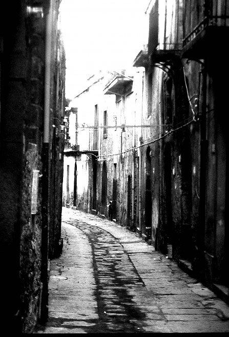 Alley in Radazzo Sicily by Dennis Blauer