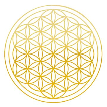 Flower of life Golden  by DeLaFont