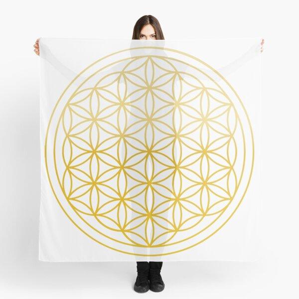 Blume des Lebens Golden Tuch
