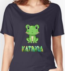 Katrina Frog Women's Relaxed Fit T-Shirt