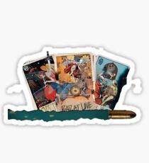 halsey hfk tarot cards Sticker
