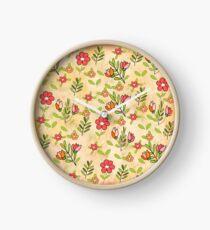 estampado floral Clock