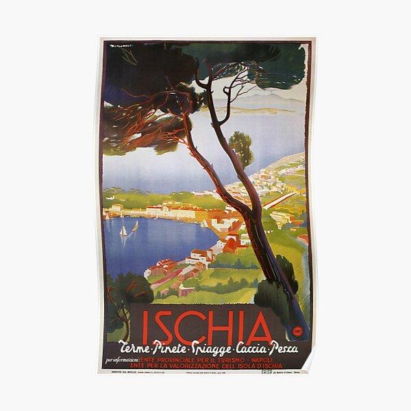 Ischia Island Italy summer travel ad Poster