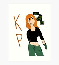 Kim Possible-Call Me Beep Me Art Print