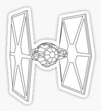 TIE Fighter Sketch Sticker