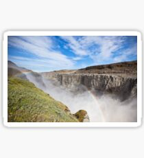 Dettifoss Waterfall in Iceland under a blue summer sky with clouds Sticker